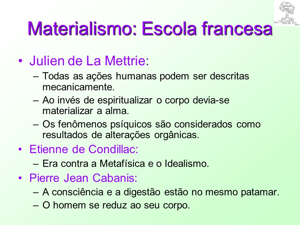 Materialismo: Escola francesa
