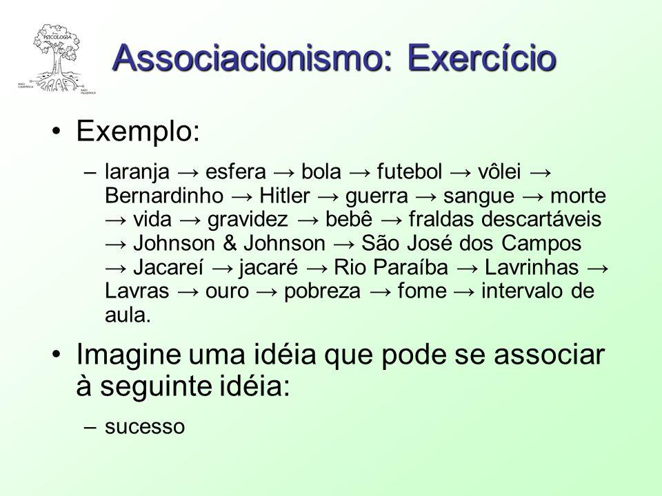 Associacionismo: Exercício