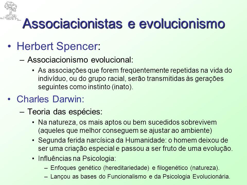 Associacionistas e evolucionismo