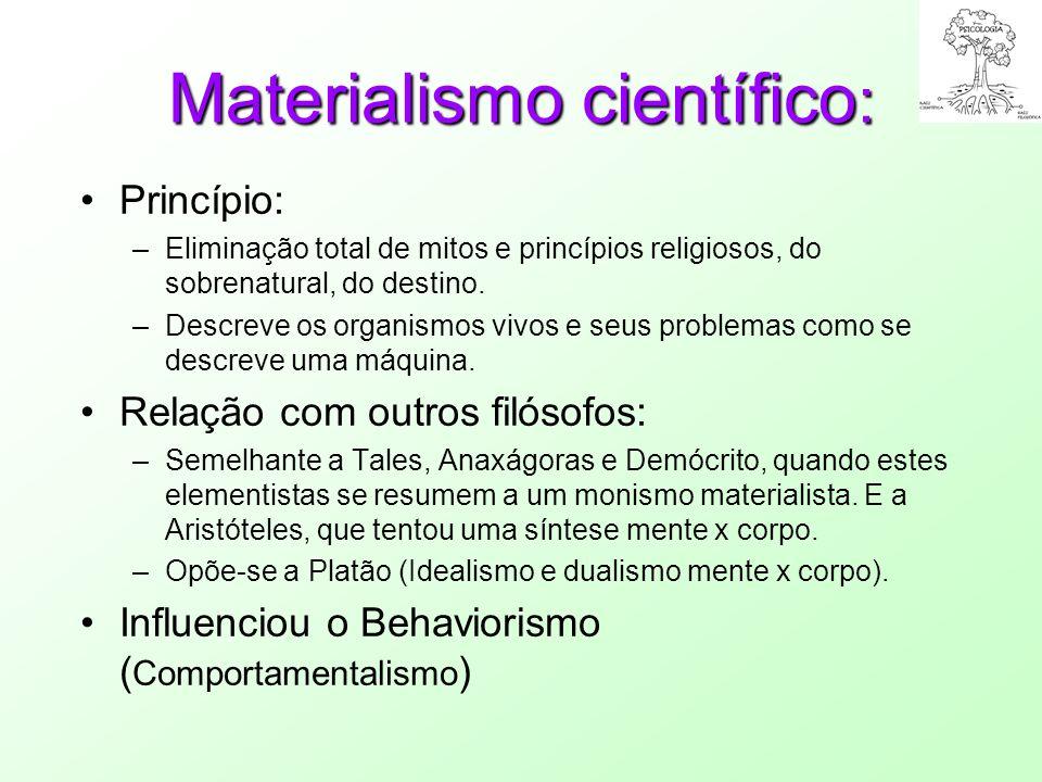 Materialismo científico: