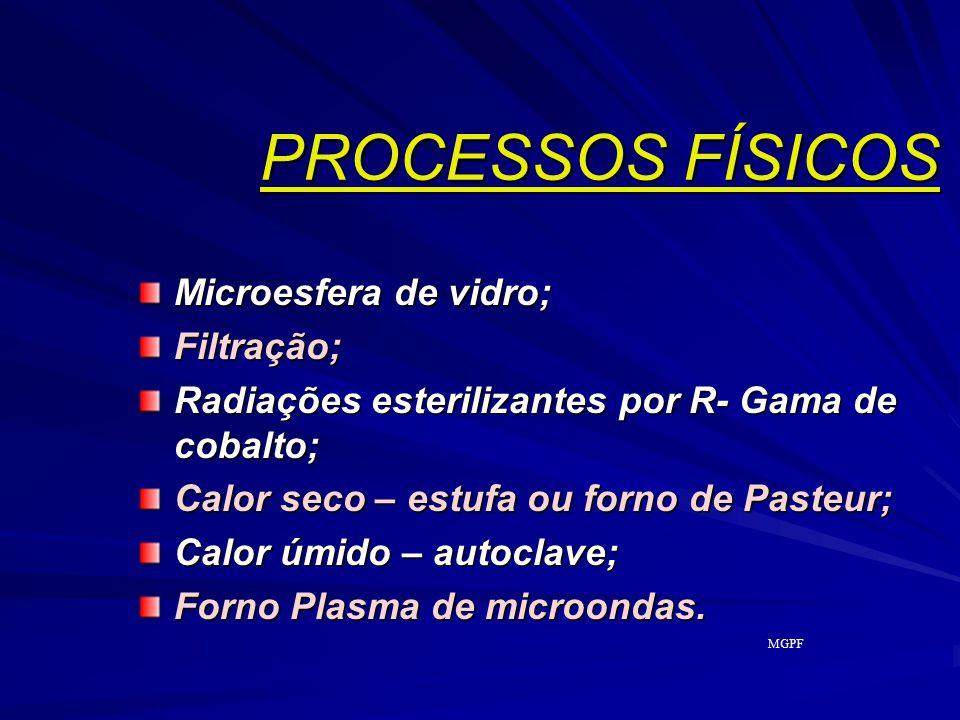 PROCESSOS FÍSICOS Microesfera de vidro; Filtração;