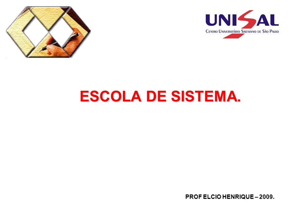 ESCOLA DE SISTEMA. PROF ELCIO HENRIQUE – 2009.