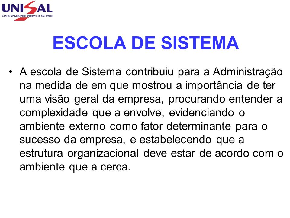 ESCOLA DE SISTEMA