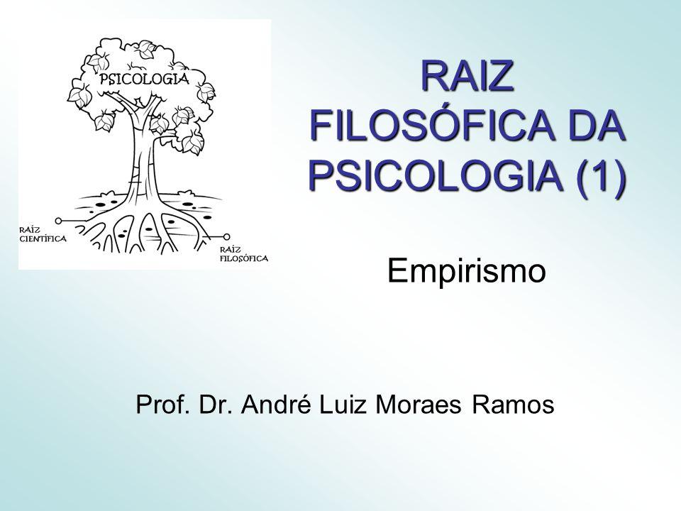 RAIZ FILOSÓFICA DA PSICOLOGIA (1) Empirismo