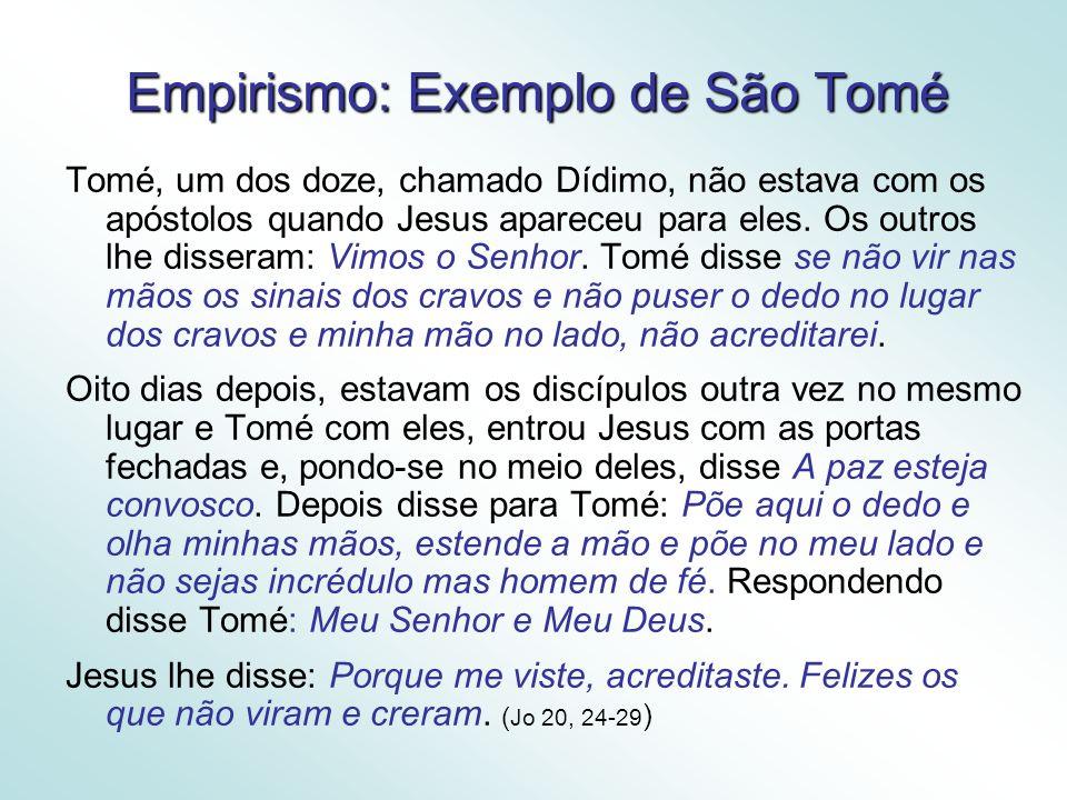 Empirismo: Exemplo de São Tomé
