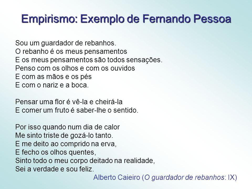 Empirismo: Exemplo de Fernando Pessoa