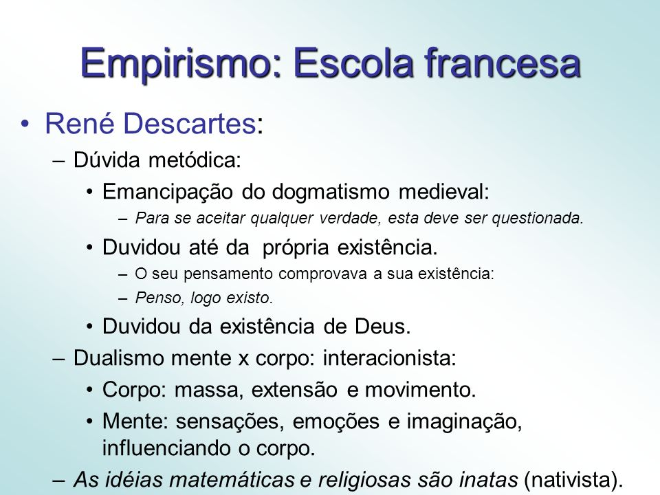 Empirismo: Escola francesa