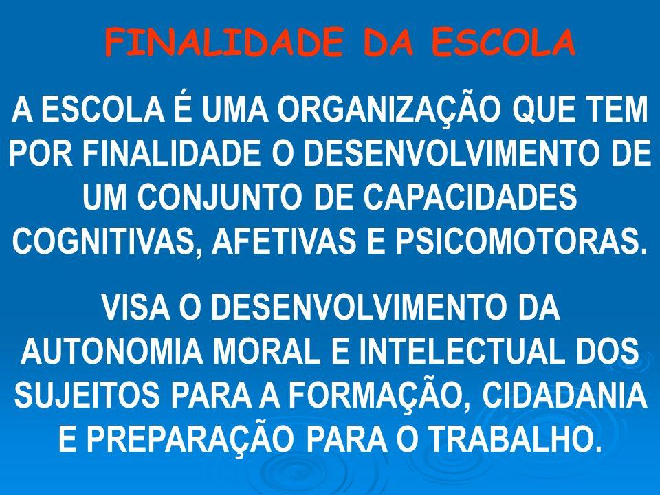 FINALIDADE DA ESCOLA