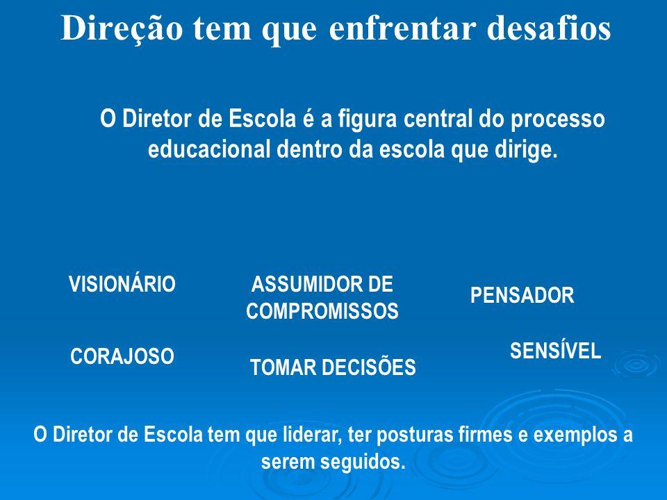 Direção tem que enfrentar desafios ASSUMIDOR DE COMPROMISSOS