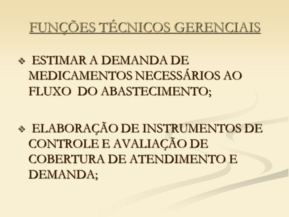 FUNÇÕES TÉCNICOS GERENCIAIS