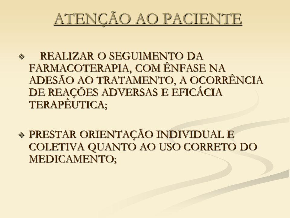 ATENÇÃO AO PACIENTE