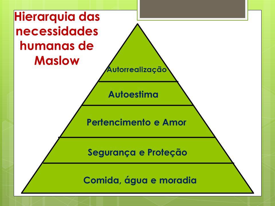Hierarquia das necessidades humanas de Maslow