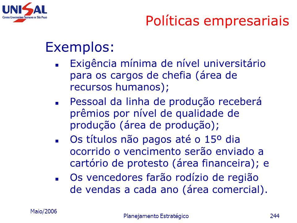 Políticas empresariais