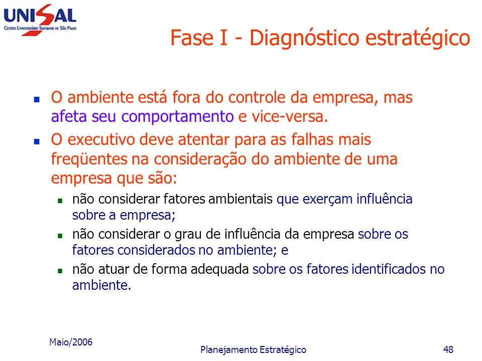 Fase I - Diagnóstico estratégico
