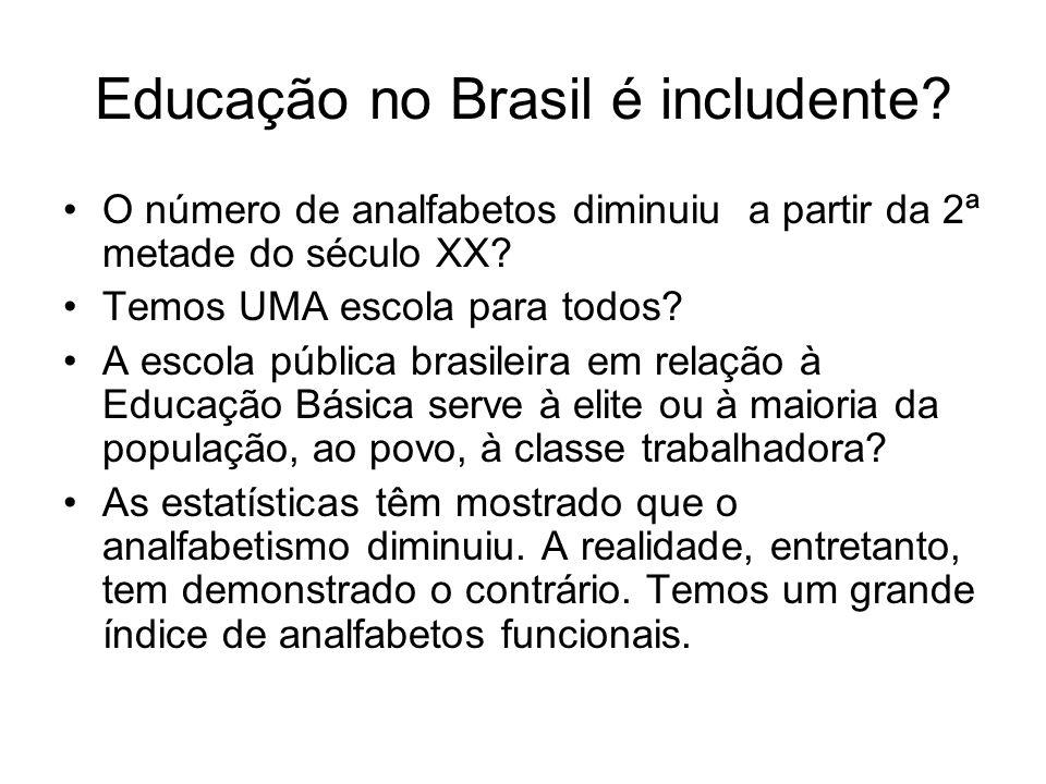 Educação no Brasil é includente