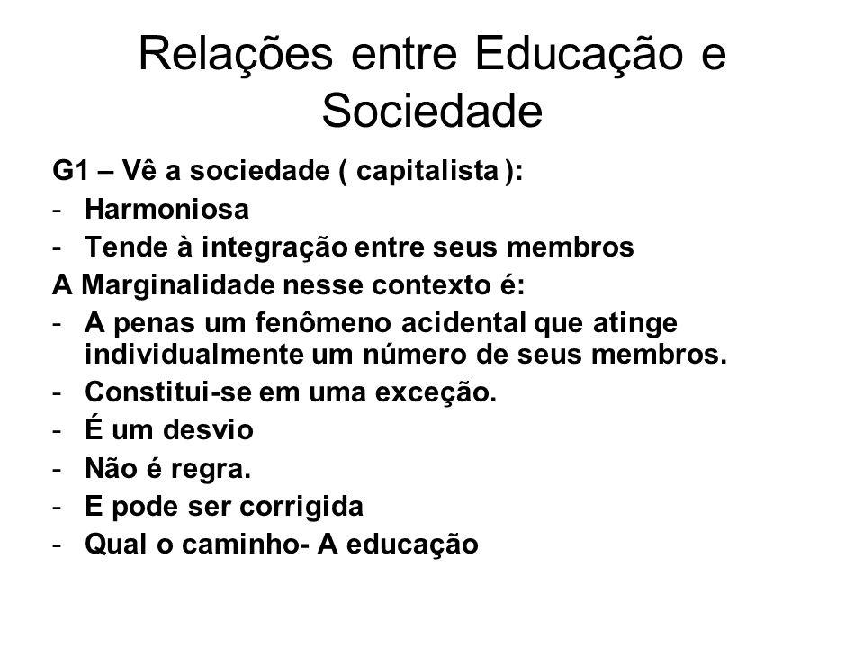 Relações entre Educação e Sociedade