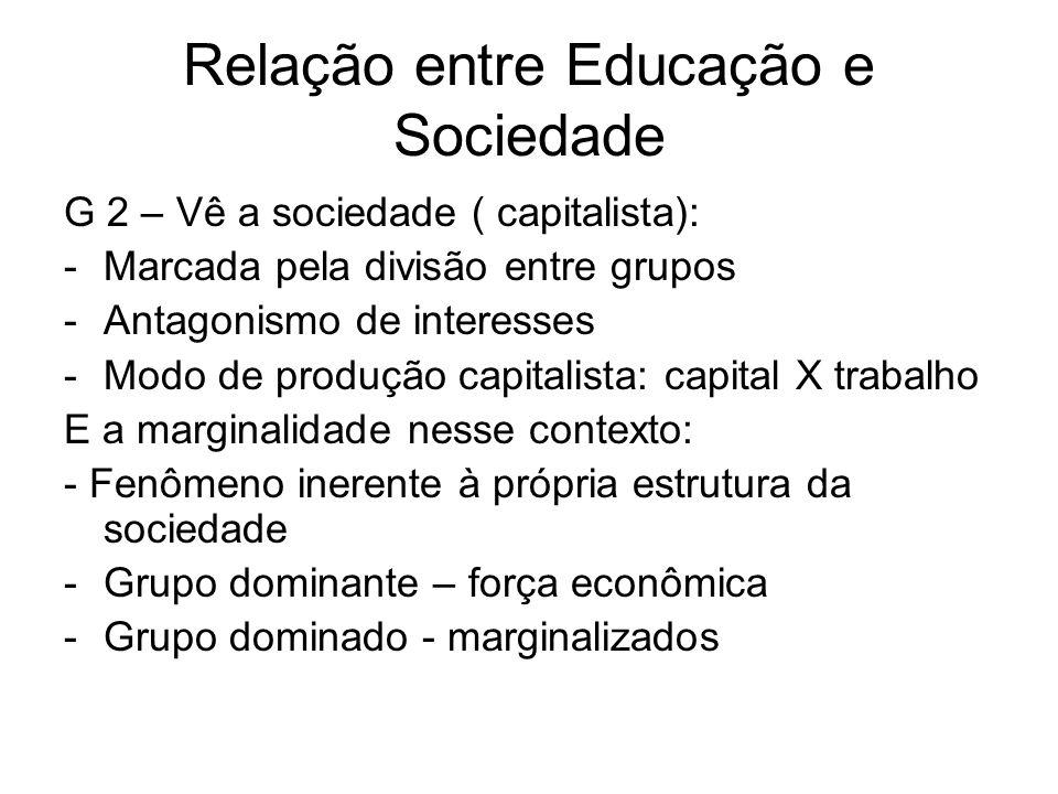 Relação entre Educação e Sociedade