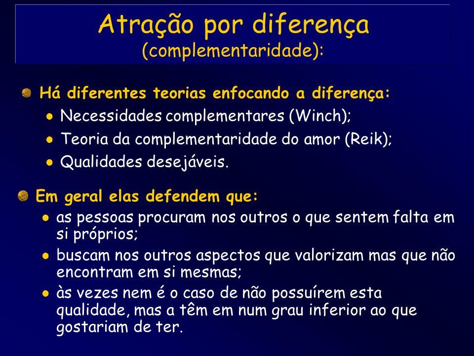 Atração por diferença (complementaridade):