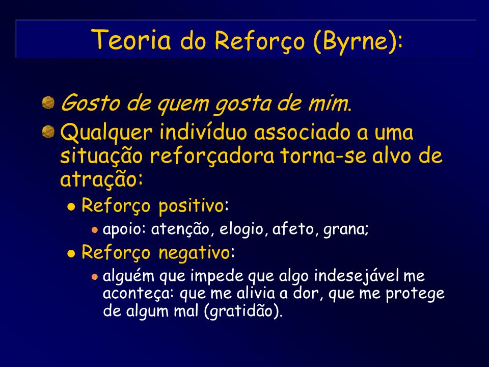 Teoria do Reforço (Byrne):