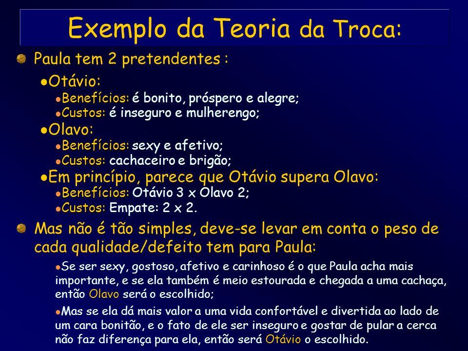 Exemplo da Teoria da Troca: