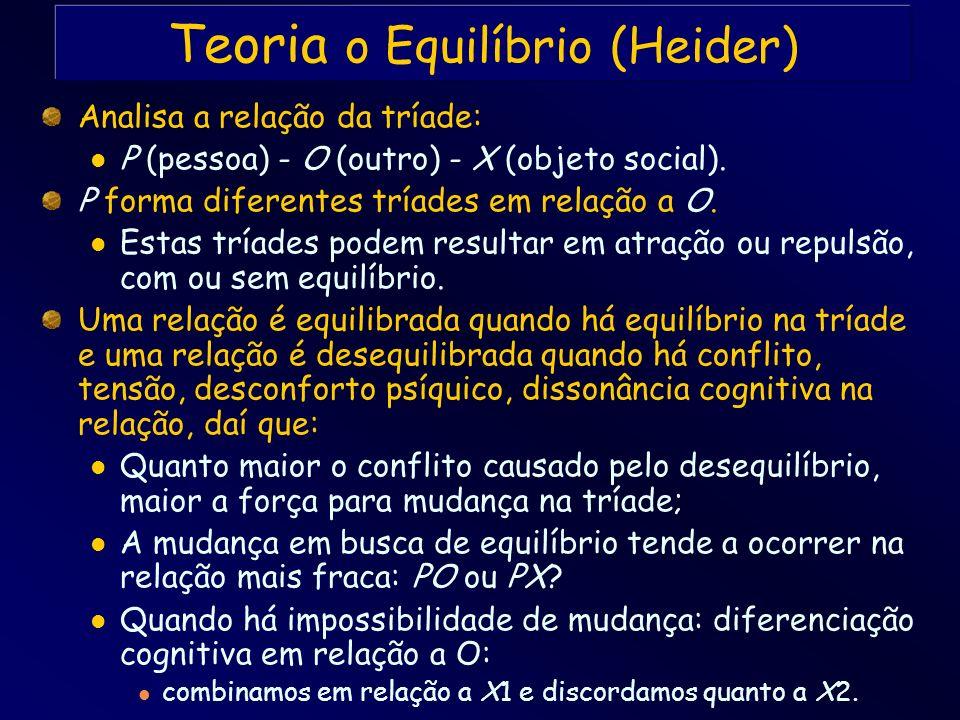 Teoria o Equilíbrio (Heider)
