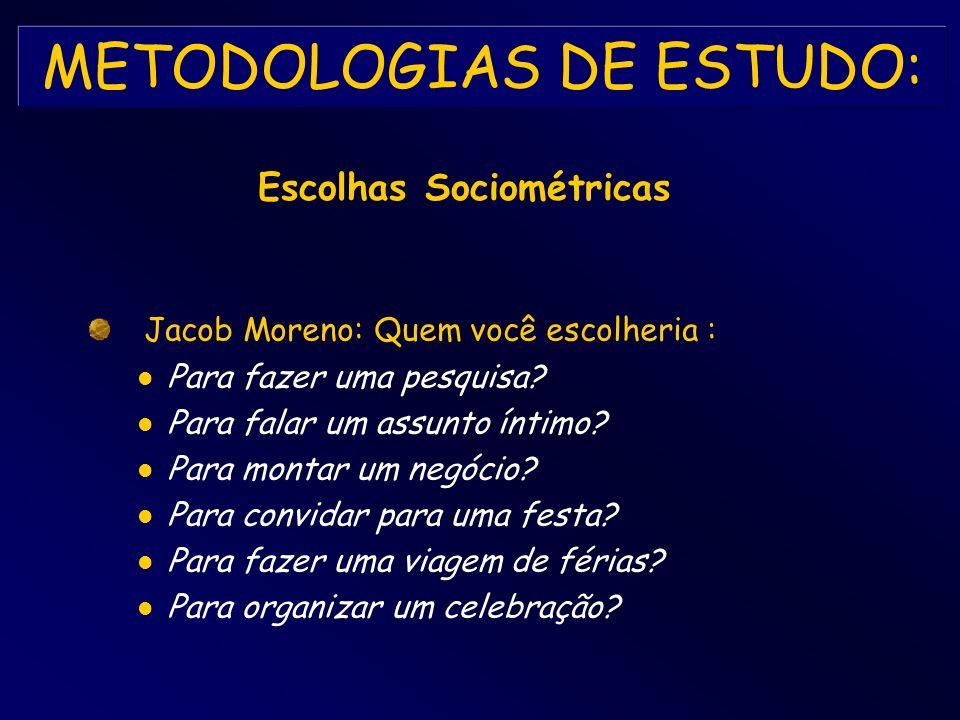 METODOLOGIAS DE ESTUDO: