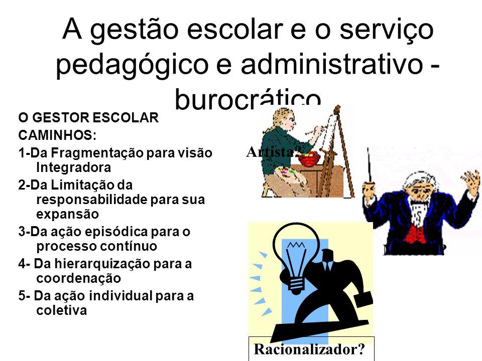 A gestão escolar e o serviço pedagógico e administrativo -burocrático