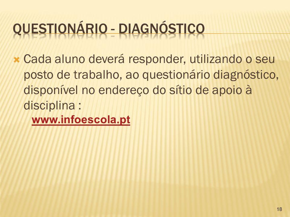 Questionário - Diagnóstico