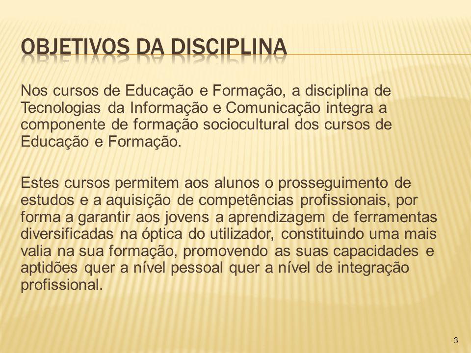 Objetivos da disciplina
