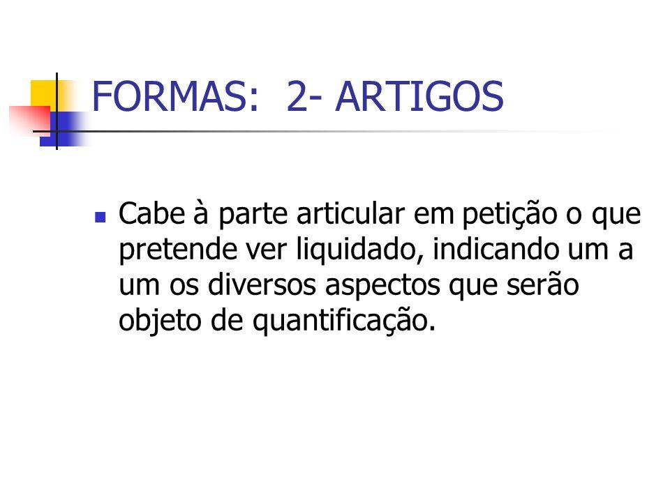 FORMAS: 2- ARTIGOS