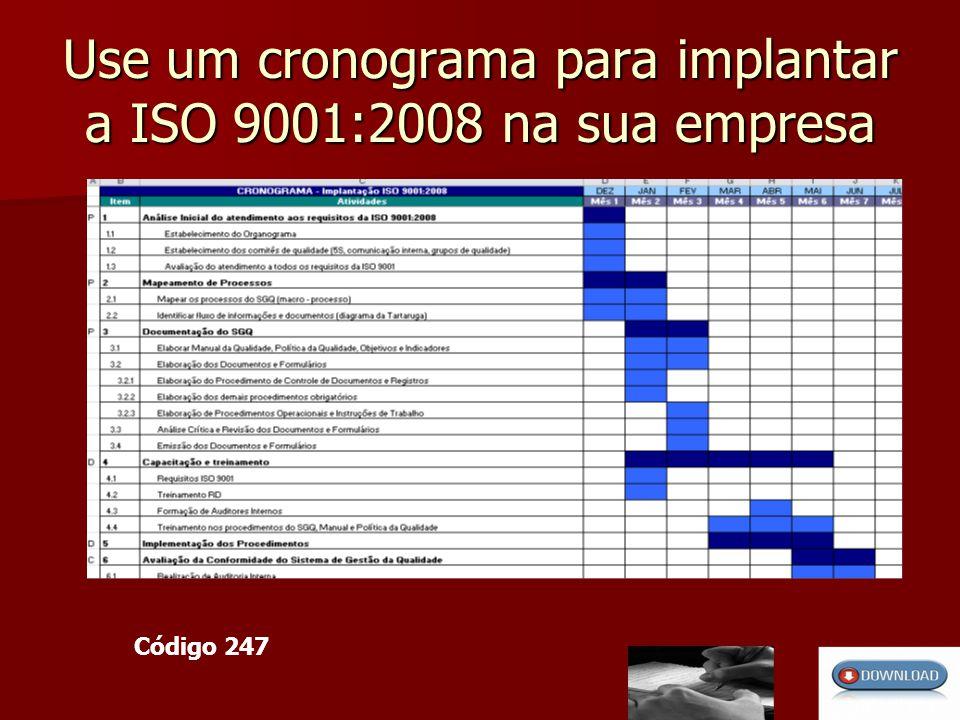 Use um cronograma para implantar a ISO 9001:2008 na sua empresa