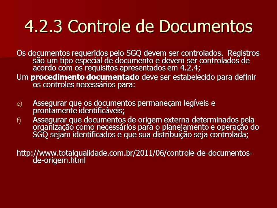 4.2.3 Controle de Documentos