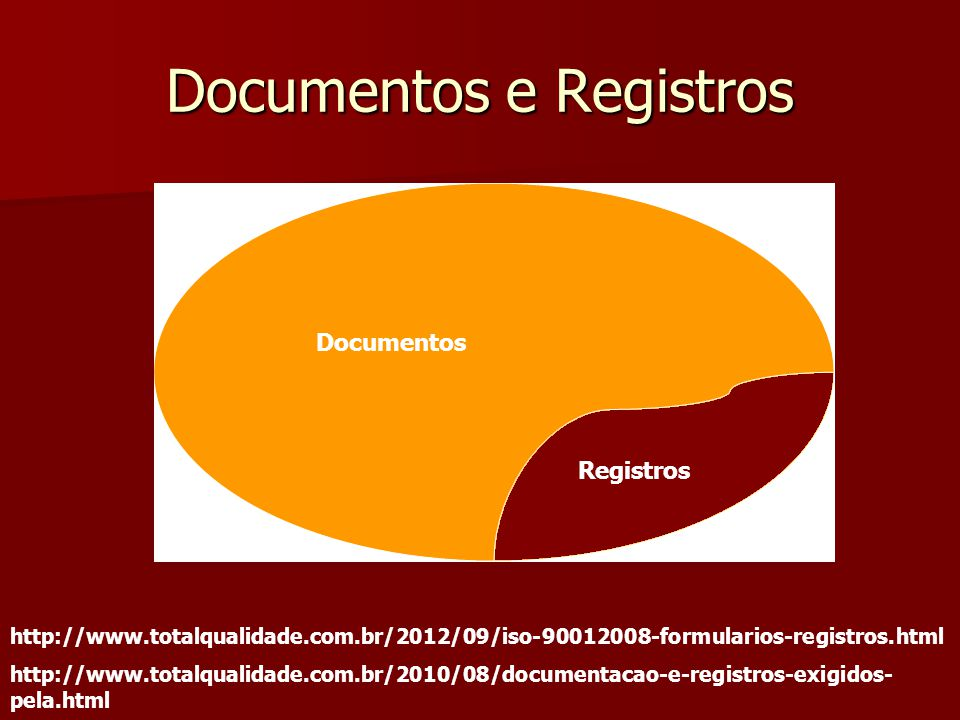 Documentos e Registros