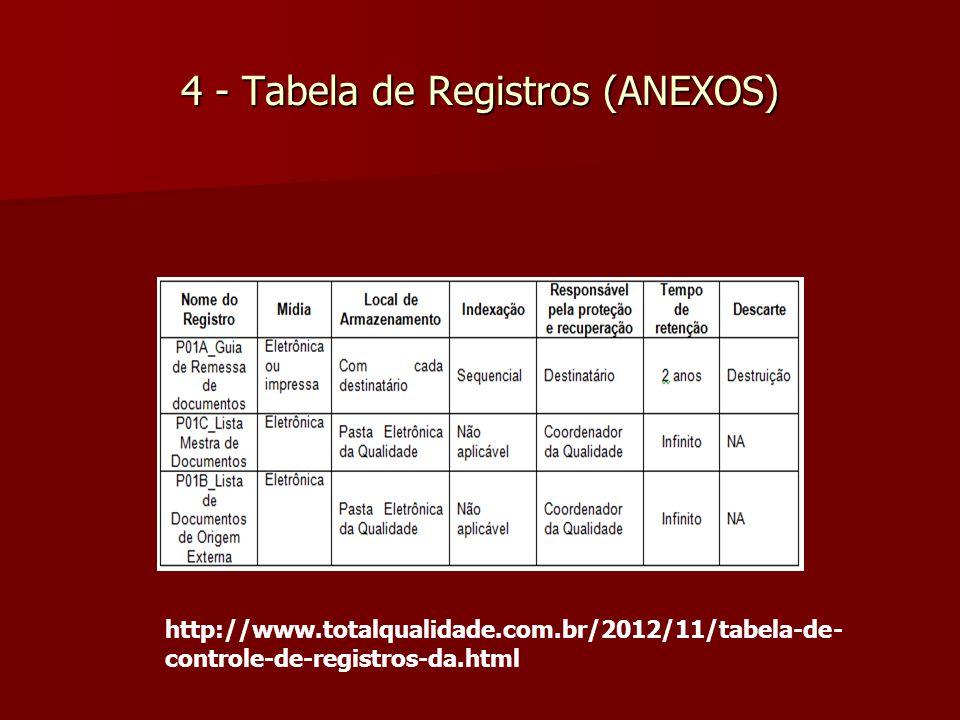 4 - Tabela de Registros (ANEXOS)
