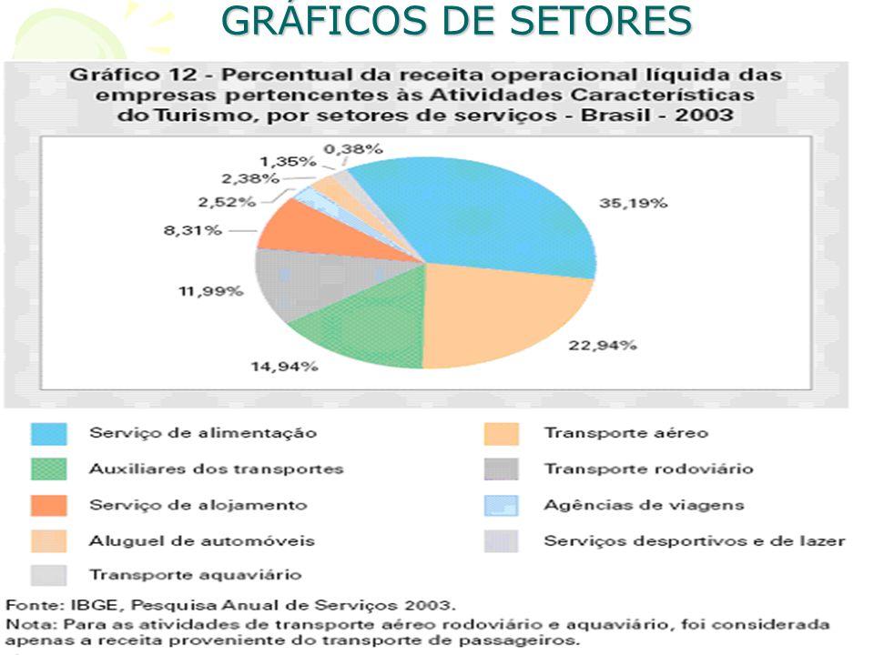 GRÁFICOS DE SETORES