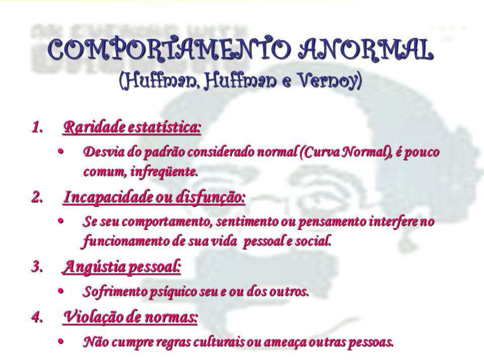COMPORTAMENTO ANORMAL (Huffman, Huffman e Vernoy)