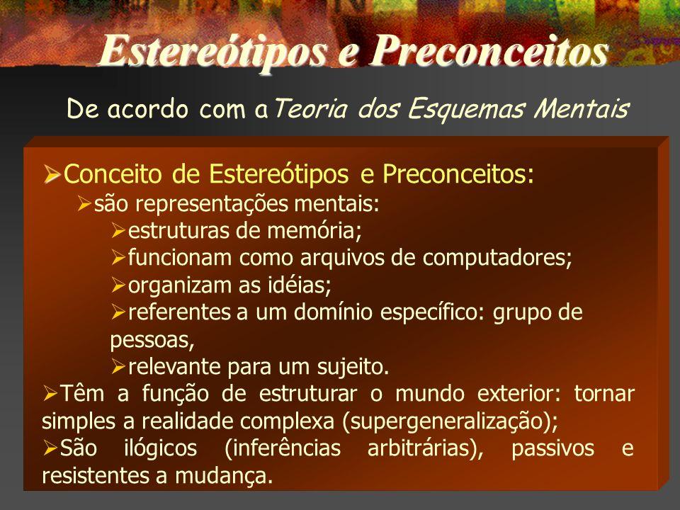 Estereótipos e Preconceitos