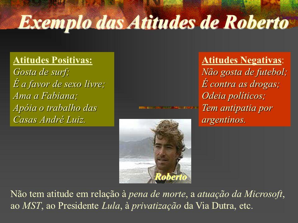 Exemplo das Atitudes de Roberto