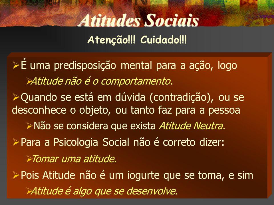 Atitudes Sociais Atenção!!! Cuidado!!!