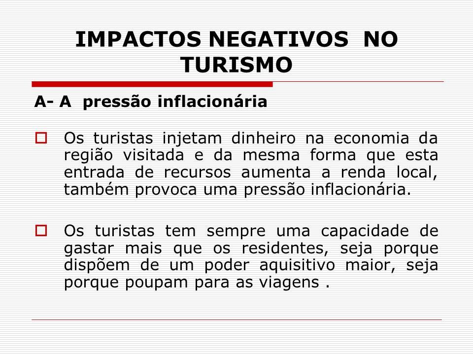 IMPACTOS NEGATIVOS NO TURISMO