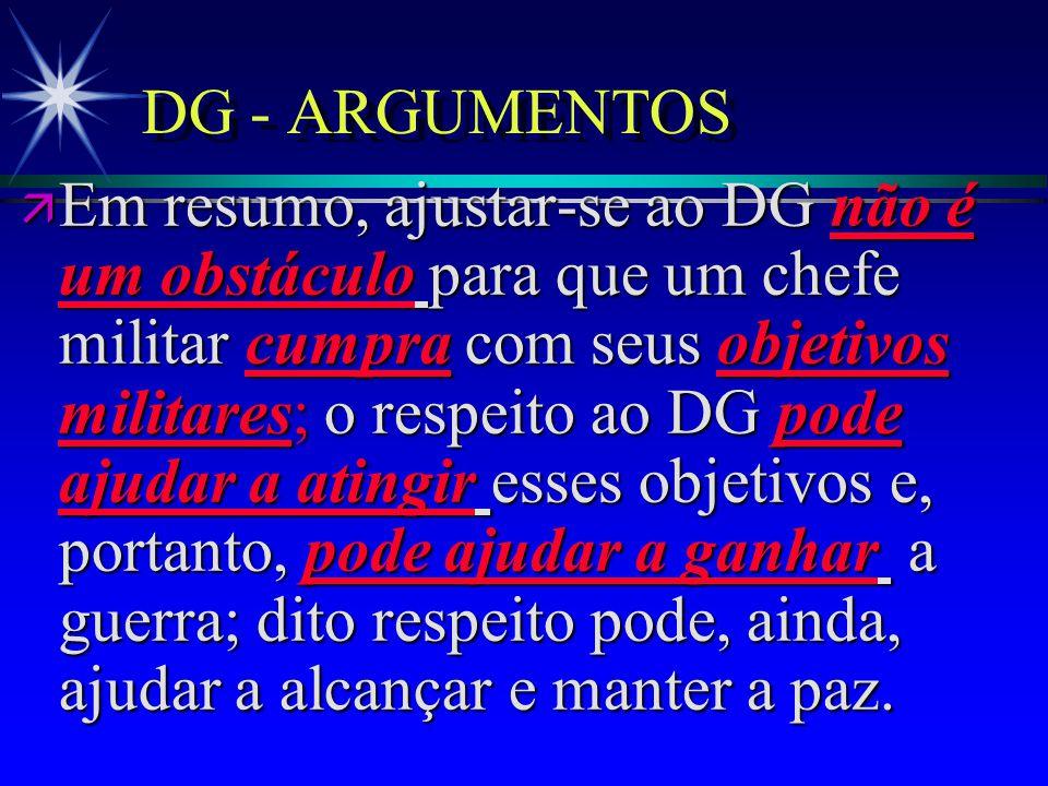 DG - ARGUMENTOS