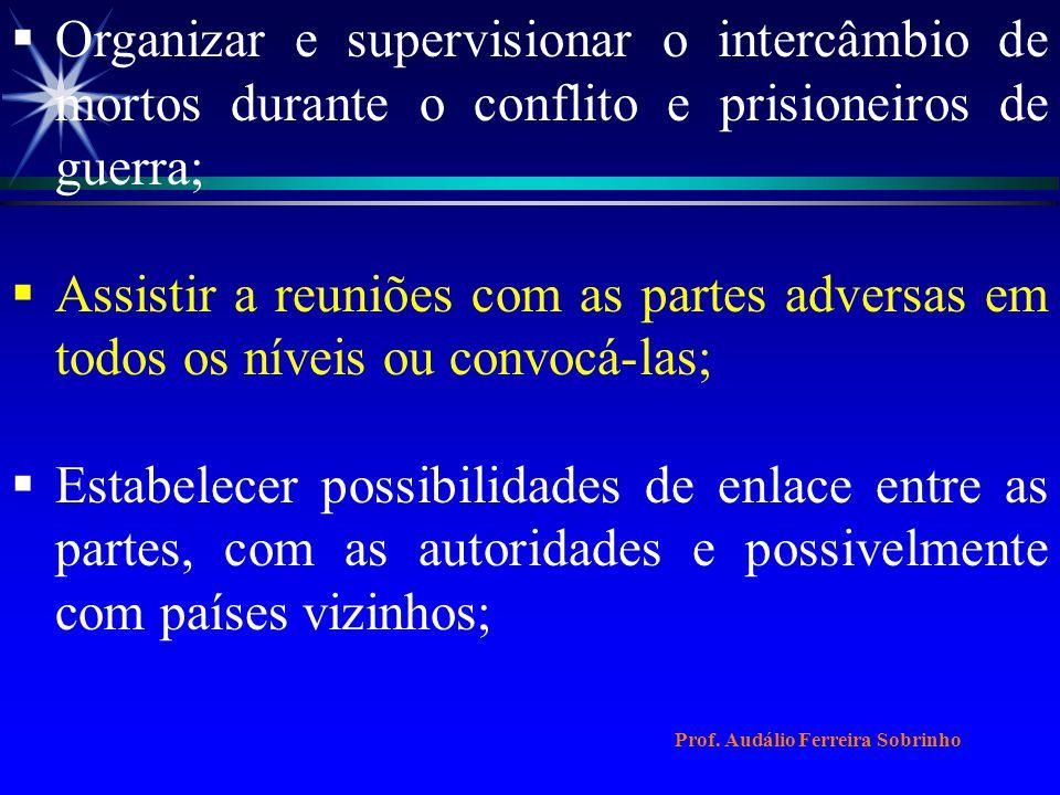 Organizar e supervisionar o intercâmbio de mortos durante o conflito e prisioneiros de guerra;