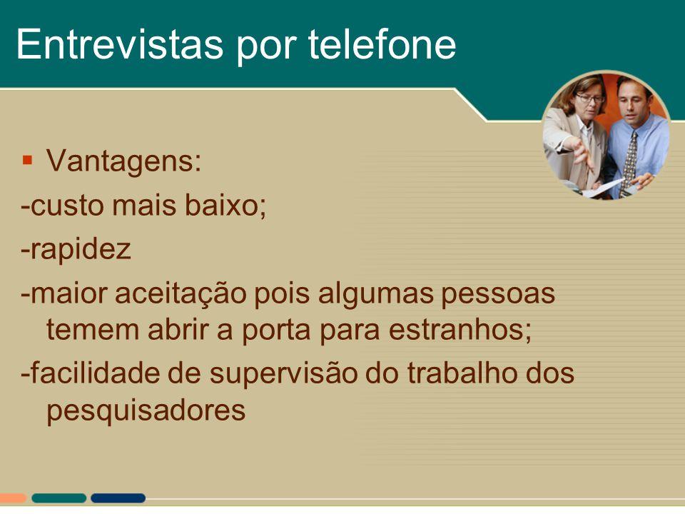 Entrevistas por telefone