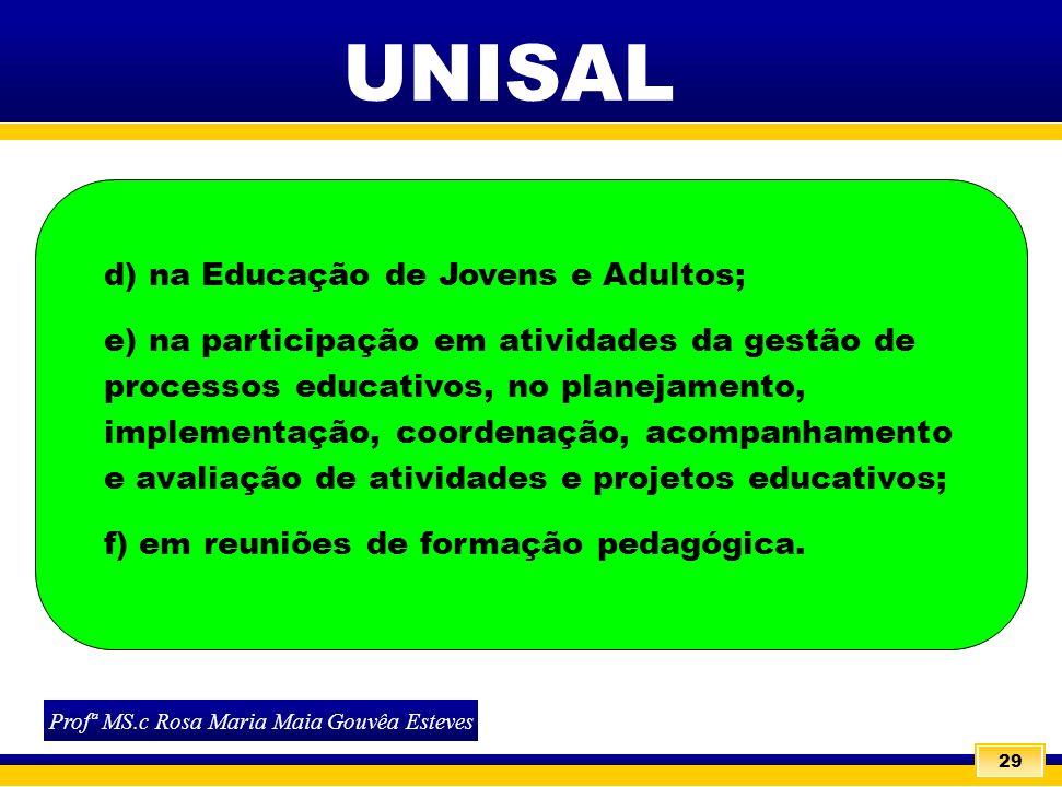 Profª MS.c Rosa Maria Maia Gouvêa Esteves