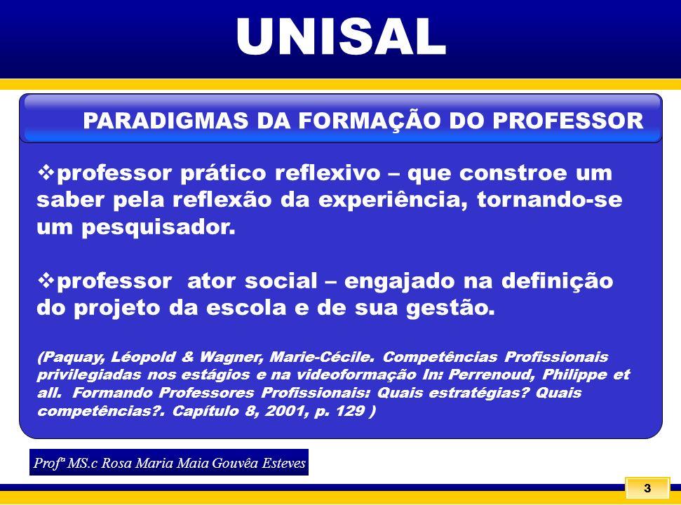 PARADIGMAS DA FORMAÇÃO DO PROFESSOR