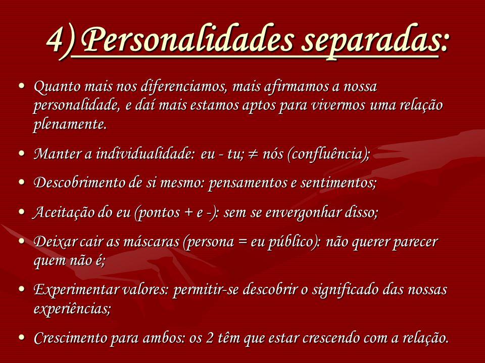 4) Personalidades separadas: