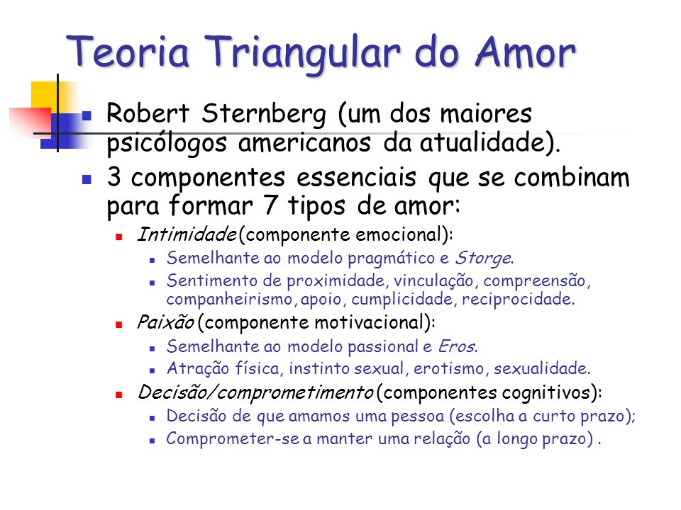 Teoria Triangular do Amor