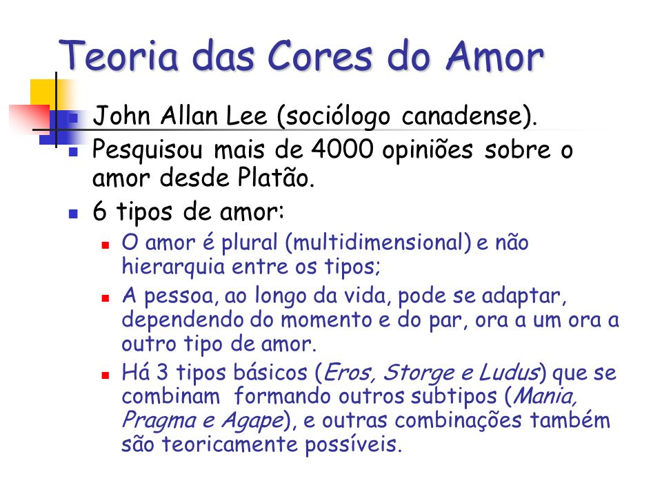 Teoria das Cores do Amor