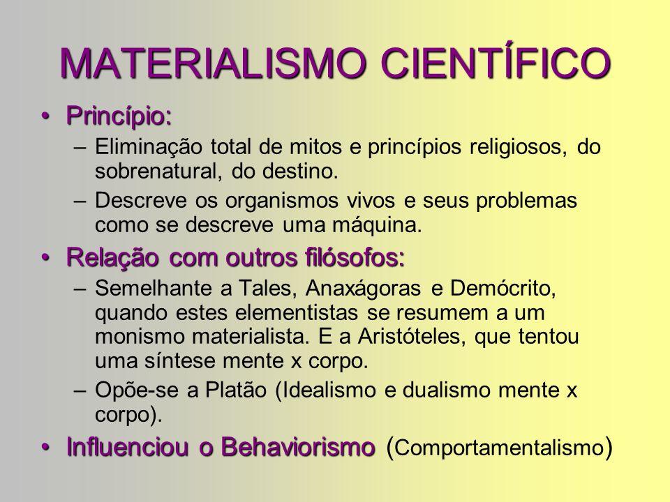 MATERIALISMO CIENTÍFICO