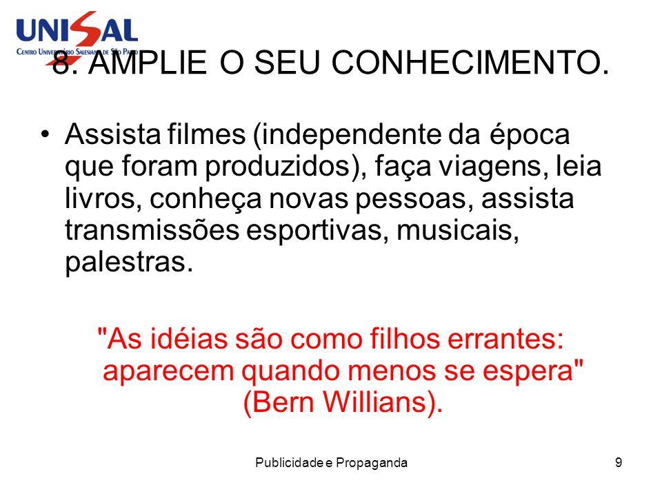 8. AMPLIE O SEU CONHECIMENTO.